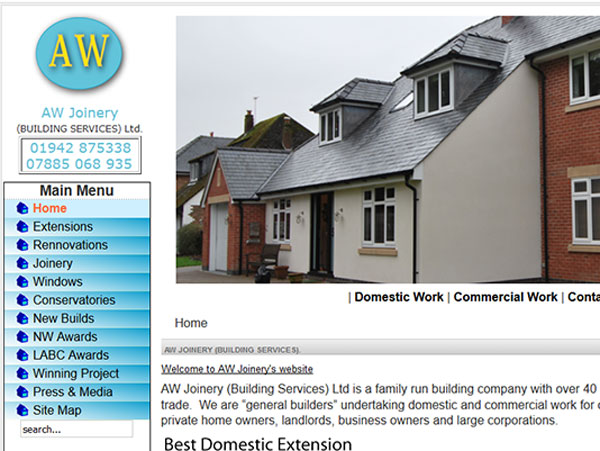 AW Joinery Website