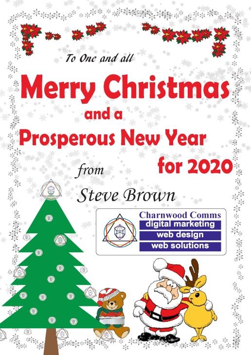 Charnwood Comms Christmas Card 2019
