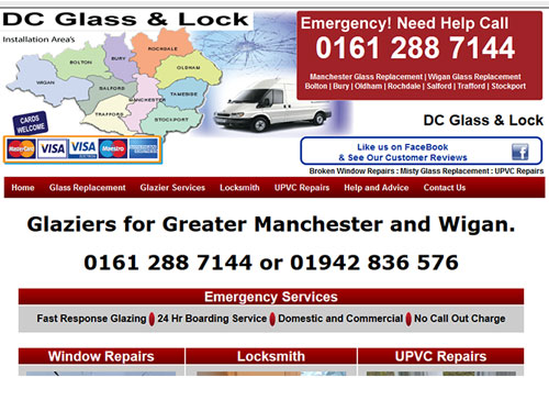 SEO Tyldesley Local Business DC Glass & Lock Ltd.