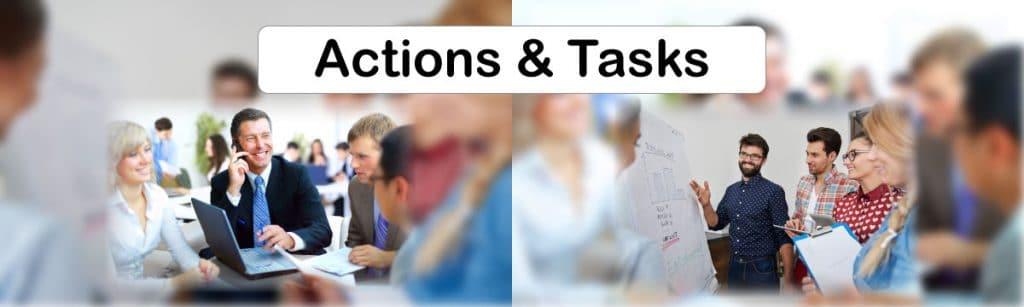 Digital Marketing campaign Elements - Actions & Tasks