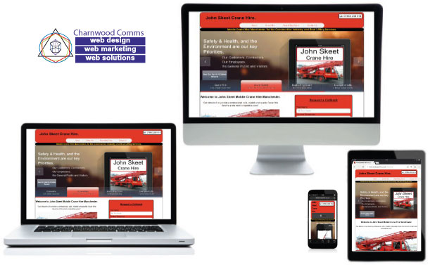 Responsive Website Designs from Charnwood Comms