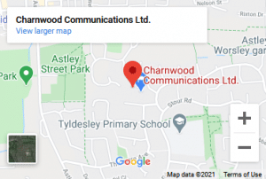 Charnwood Communications Ltd in Google Maps